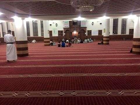 صورة من مسجد سابحة في العاصمة صنعاء